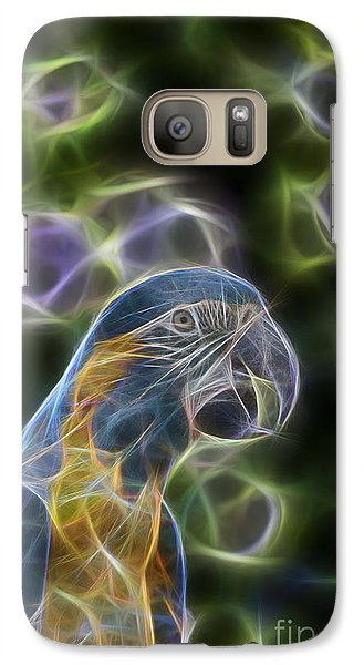 Blue And Gold Macaw  Galaxy Case by Douglas Barnard