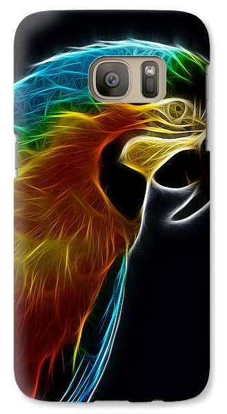 Blue And Gold Macaw Frac Galaxy S7 Case by Bill Barber