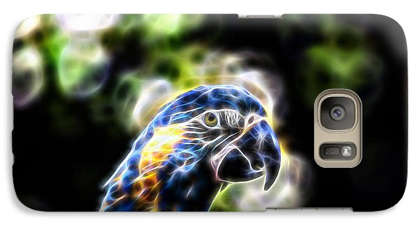 Blue And Gold Macaw V4 Galaxy Case by Douglas Barnard