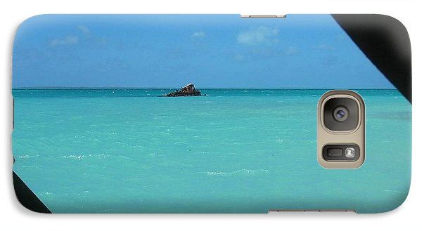Galaxy Case featuring the photograph Blue And Green by Photographic Arts And Design Studio