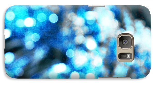 Galaxy Case featuring the digital art Blue And White Bokeh by Fine Art By Andrew David