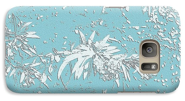 Galaxy Case featuring the photograph Blue And White Leaves by Ellen O'Reilly