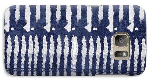 Niagra Falls Galaxy S7 Case - Blue And White Shibori Design by Linda Woods