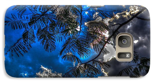 Galaxy Case featuring the photograph Blue And Yellow Skies by Ross Henton