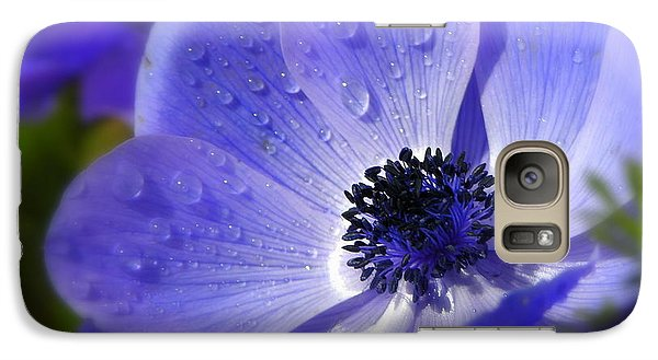 Galaxy Case featuring the photograph Blue Anemone by Martina  Rathgens