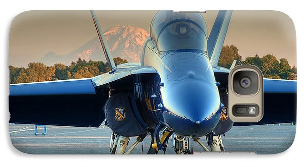 Galaxy Case featuring the photograph Blue Angel At Sunset by Jeff Cook