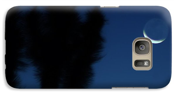 Galaxy Case featuring the photograph Blue by Angela J Wright