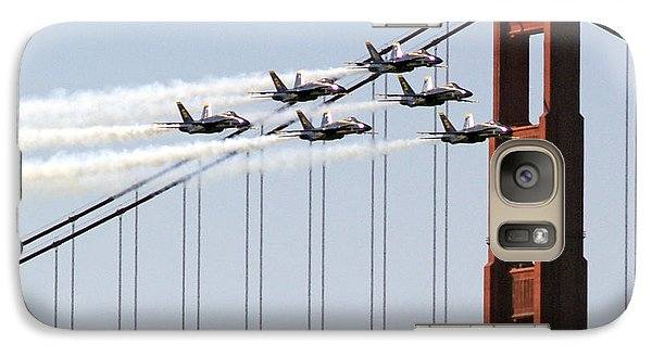 Blue Angels And The Bridge Galaxy S7 Case