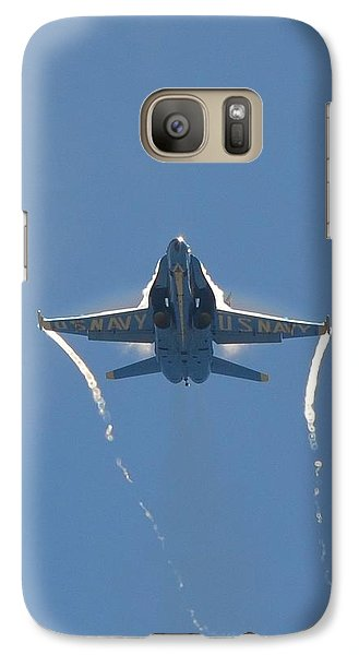 Galaxy Case featuring the photograph Blue Angels Ghost Appears Head-on Over Pensacola Beach by Jeff at JSJ Photography