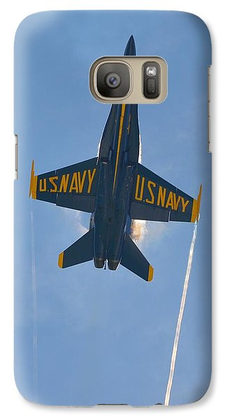Galaxy Case featuring the photograph Blue Angels Ghost Appears Over Pensacola Beach by Jeff at JSJ Photography