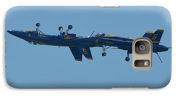 Galaxy Case featuring the photograph Blue Angels Practice Up And Down With Low And Slow by Jeff at JSJ Photography