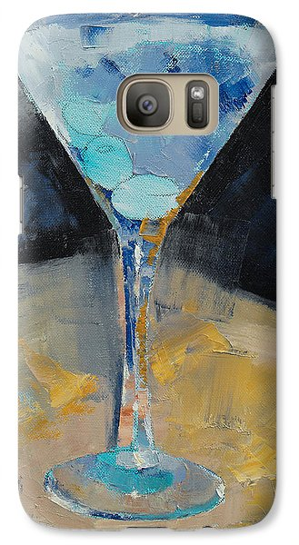 Blue Art Martini Galaxy S7 Case