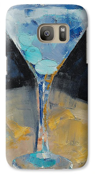 Blue Art Martini Galaxy S7 Case by Michael Creese
