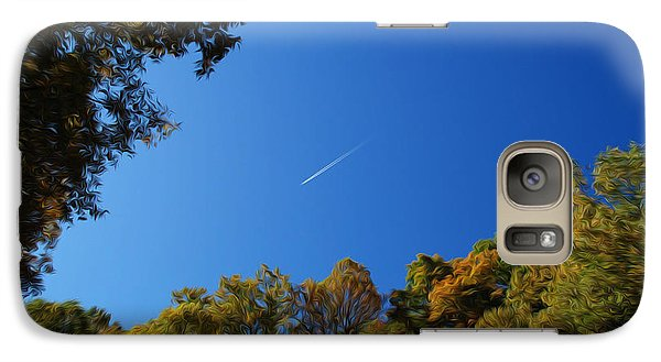 Galaxy Case featuring the photograph Blue Autumn Skies by Kelvin Booker