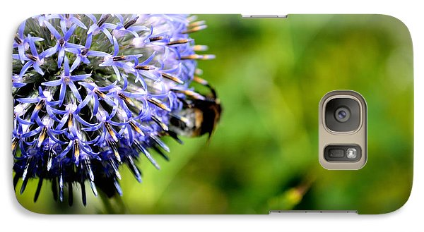 Galaxy Case featuring the photograph Blue Ball Flower by Scott Lyons