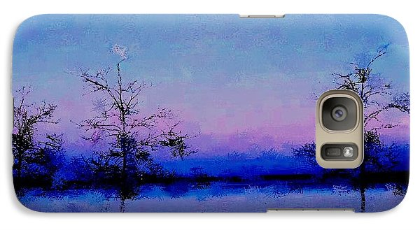 Galaxy Case featuring the mixed media Blue Ballet by Terence Morrissey