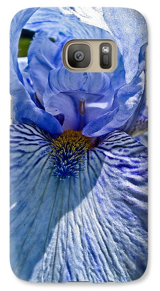 Galaxy Case featuring the photograph Blue Bearded Iris by Joann Copeland-Paul