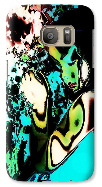 Galaxy Case featuring the photograph Blue Beauty by Jessica Shelton