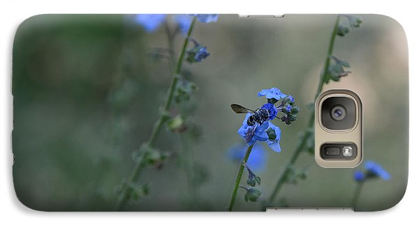 Galaxy Case featuring the photograph Blue Bee by Tamera James