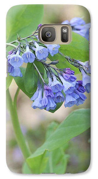 Galaxy Case featuring the photograph Blue Bells Of Lapsley's Run by Phyllis Peterson