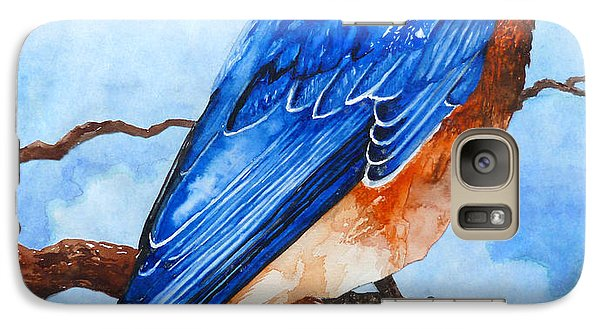 Galaxy Case featuring the painting Blue Bird by Curtiss Shaffer
