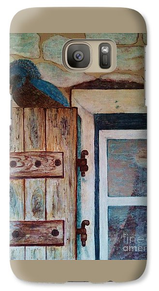 Galaxy Case featuring the painting Blue Bird by Jasna Gopic