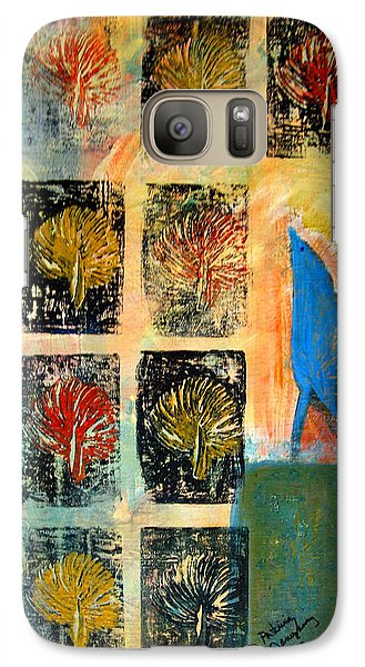 Galaxy Case featuring the painting Blue Bird by Patricia Januszkiewicz