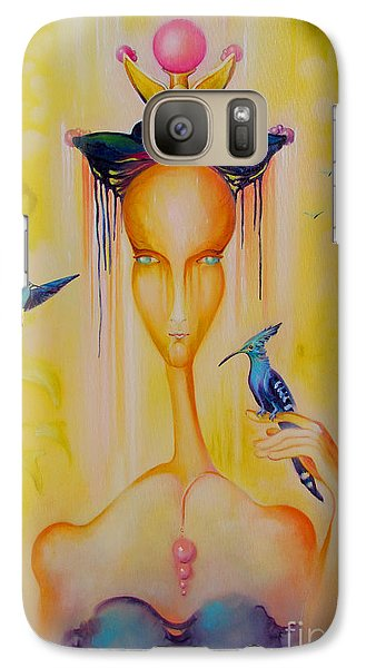Galaxy Case featuring the painting Blue Birds by Alexa Szlavics