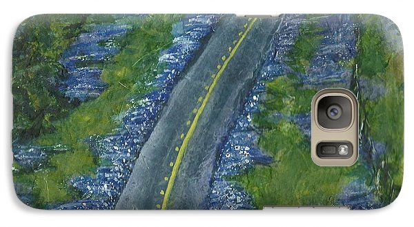 Galaxy Case featuring the painting Blue Bonnet Road by Lynn Babineau