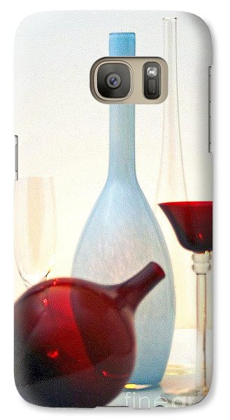 Galaxy Case featuring the photograph Blue Bottle by Elf Evans