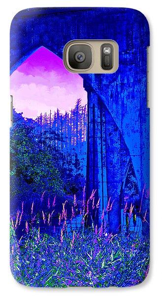 Galaxy Case featuring the photograph Blue Bridge by Adria Trail