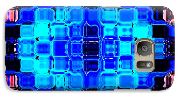 Galaxy Case featuring the digital art Blue Bubble Glass by Anita Lewis