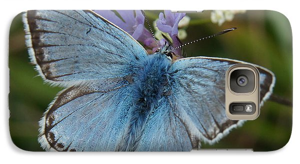 Galaxy Case featuring the digital art Blue Butterfly by Ron Harpham