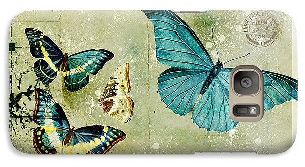 Butterfly Galaxy S7 Case - Blue Butterfly - S55c01 by Variance Collections