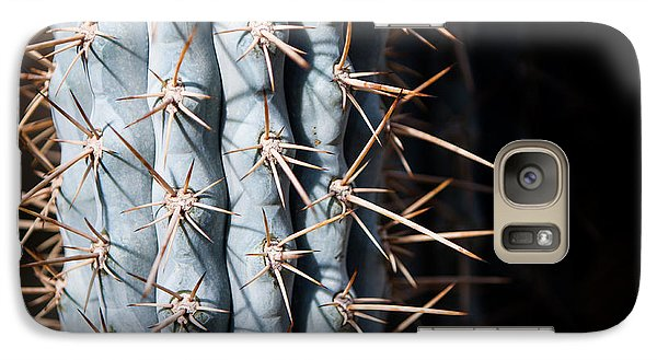 Galaxy Case featuring the photograph Blue Cactus by John Wadleigh