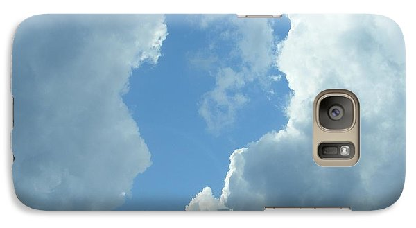 Galaxy Case featuring the photograph Blue Center by Nancy Kane Chapman