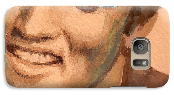 Galaxy Case featuring the painting Blue Christmas by Laur Iduc