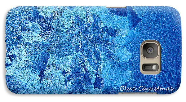 Galaxy Case featuring the photograph Blue Christmas by Rhonda McDougall