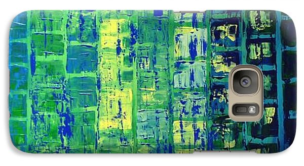 Galaxy Case featuring the painting Blue City by Linda Bailey