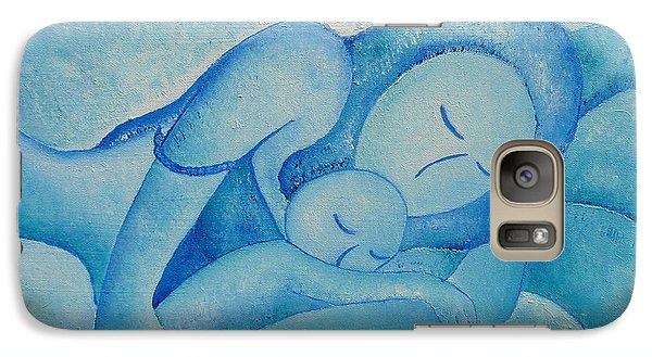 Galaxy Case featuring the painting Blue Co Sleeping by Gioia Albano