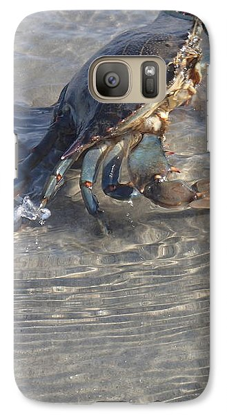Galaxy Case featuring the photograph Blue Crab Chillin by Robert Nickologianis