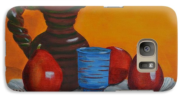 Galaxy Case featuring the painting Blue Cup by Melvin Turner
