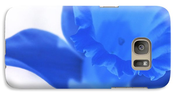Galaxy Case featuring the photograph Blue Daffodil by Andy Prendy