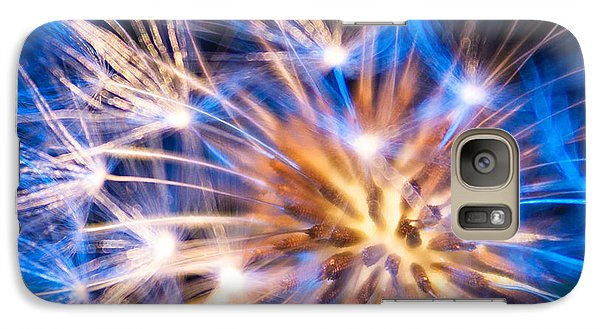Galaxy Case featuring the photograph Blue Dandelion Up Close by Todd Soderstrom