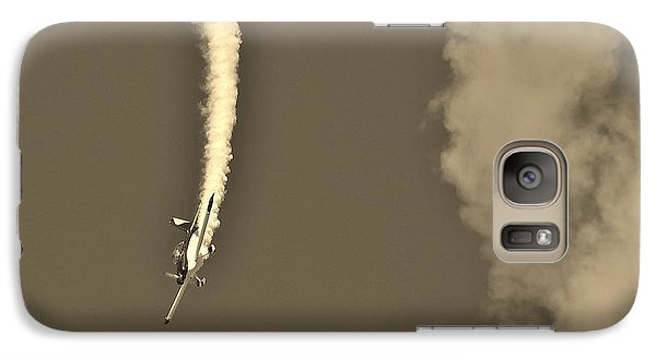 Galaxy Case featuring the photograph Blue Daredevil In Sepia by Don Youngclaus
