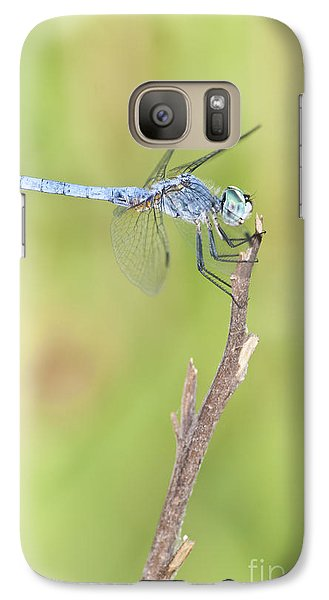Galaxy Case featuring the photograph Blue Dasher by Bryan Keil