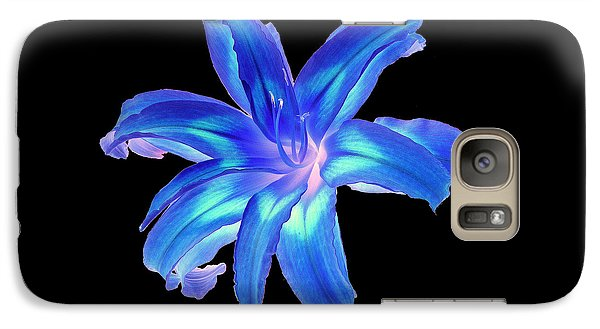 Galaxy Case featuring the photograph Blue Day Lily #2 by Jim Whalen