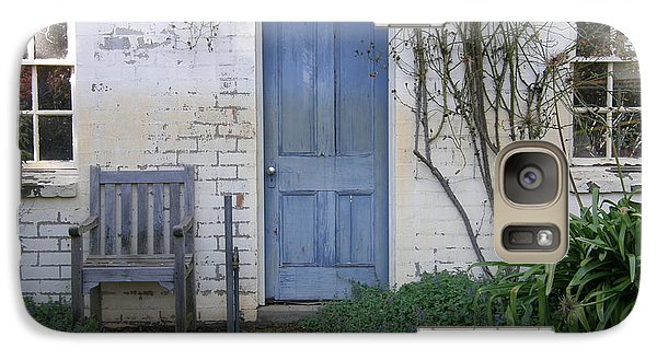 Galaxy Case featuring the photograph Blue Door by Bev Conover