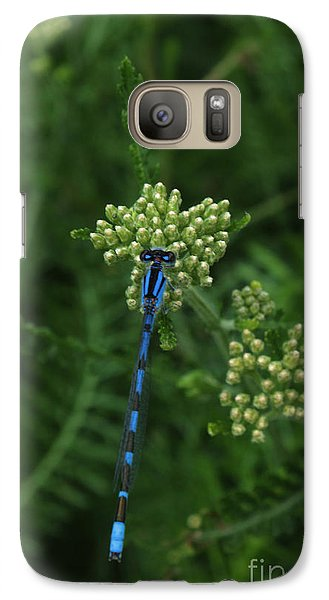 Galaxy Case featuring the photograph Blue Dragonfly by Marjorie Imbeau
