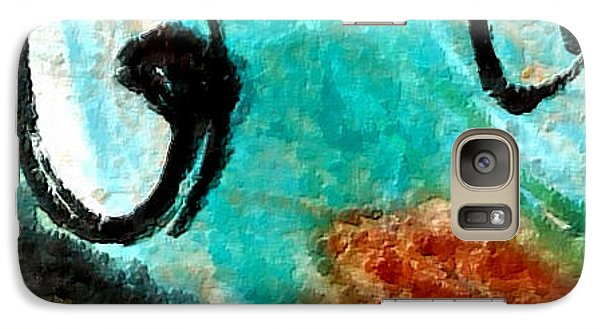 Galaxy Case featuring the painting Blue Dream by Joan Reese